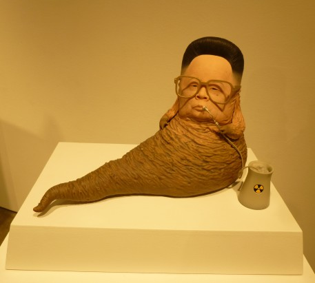 Kim Jong Il as Jabba the Hut