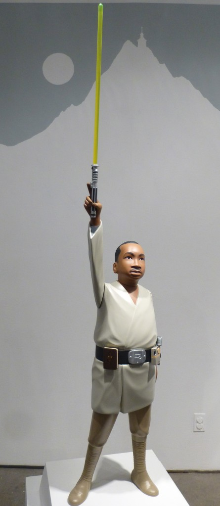 Martin Luther King as Luke Skywalker