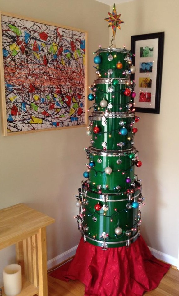 Drum Christmas Tree