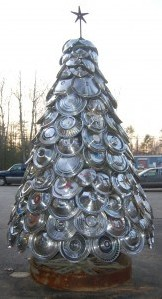 Hubcap Christmas Tree