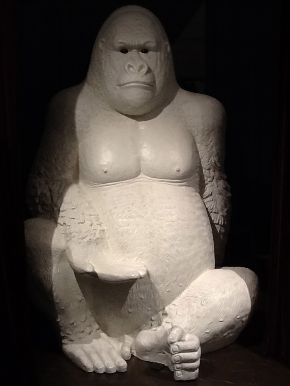Giant White Gorilla Display