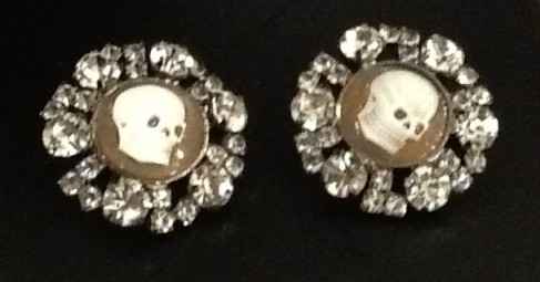 Skull Cameo Earrings