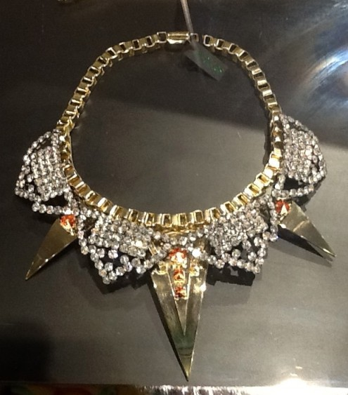 Diamond Spike Collar Necklace