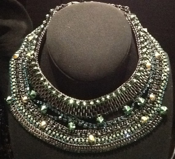 Green Bridal Collar Necklace