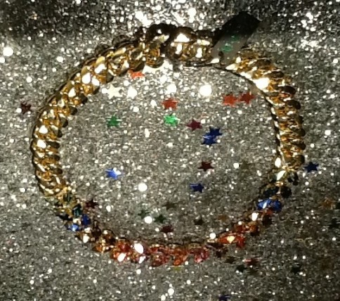 Jewel Chain Collar on Glitter Display