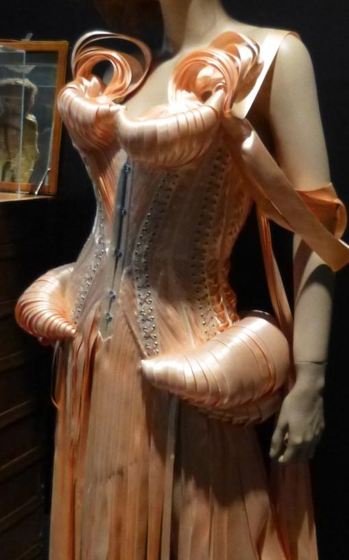 Boudoir Pink Satin Outfit Detail