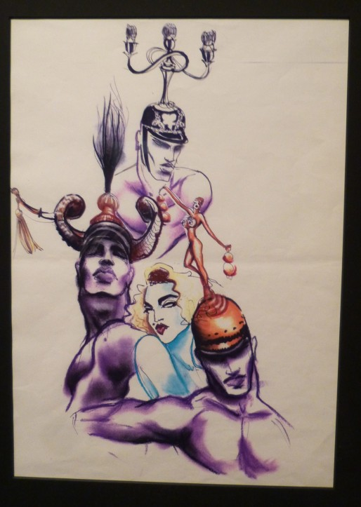 Costume Sketch for Madonna and Dancers