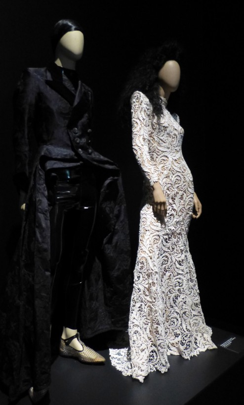 Black Waistcoat and White Lace Gown