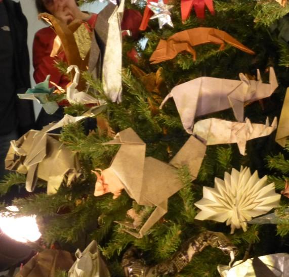 Origami Geko Rhino Peacock
