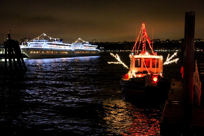 Lights on a TugBoat