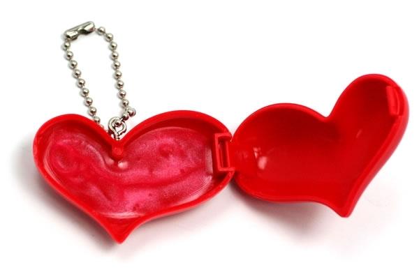 Heart Lip Gloss Open