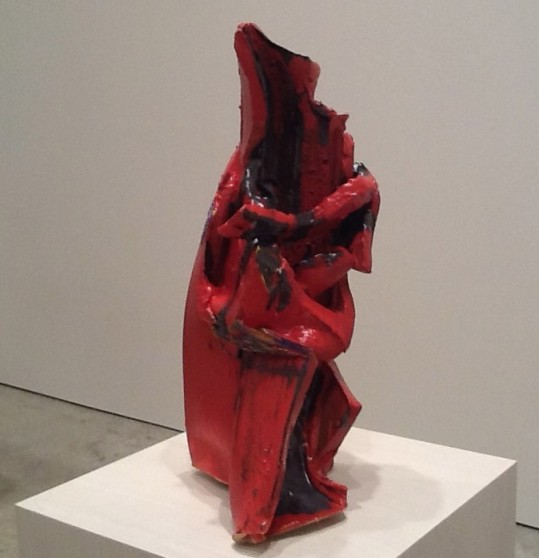 Lynda Benglis Red Sitting Sculpture