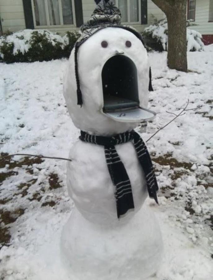 Mail Box Snowman