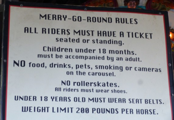 Griffith Park Merry Go Round Rules