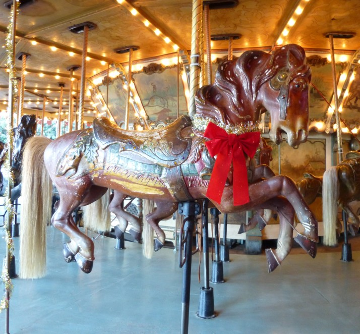 Griffith Park Merry Go Round Horse Close Up