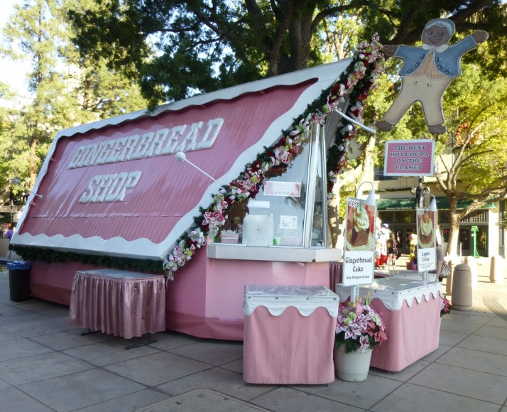 Pink Gingerbread Shop Front View