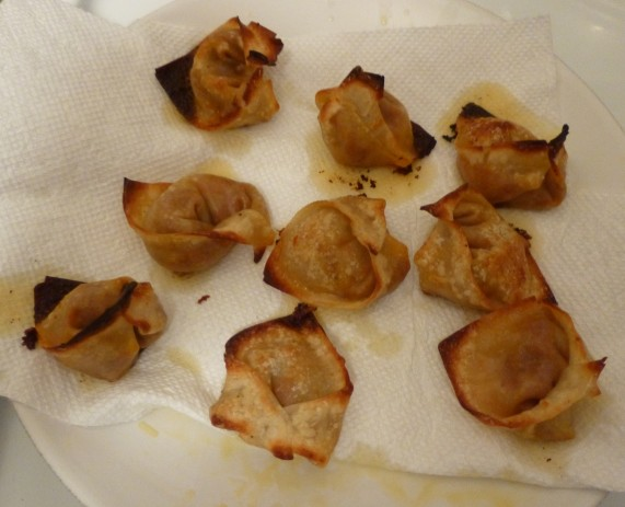 Cooked Wontons