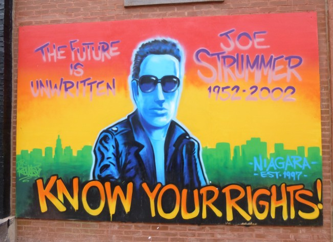 Joe Strummer Mural East Village NYC