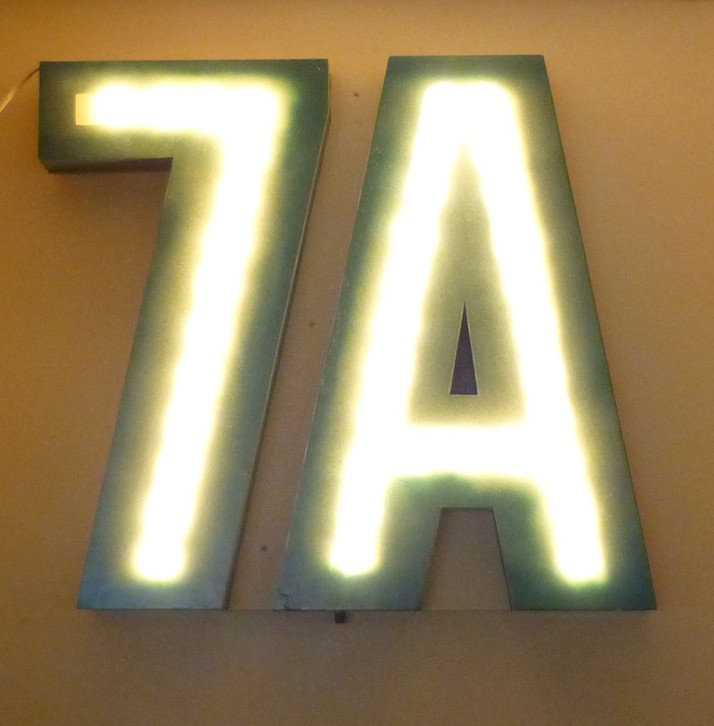 7A Illuminated Sign