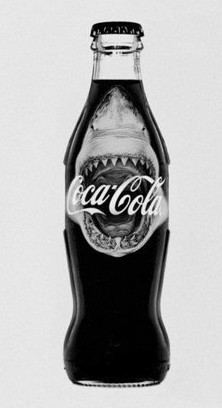 Shark Attack Coke Bottle