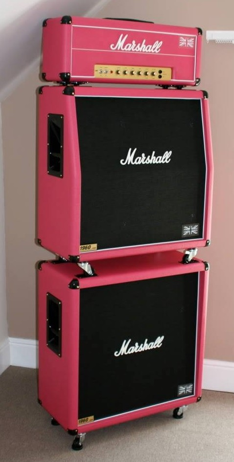 pink thing of the day pink marshall amp stack the
