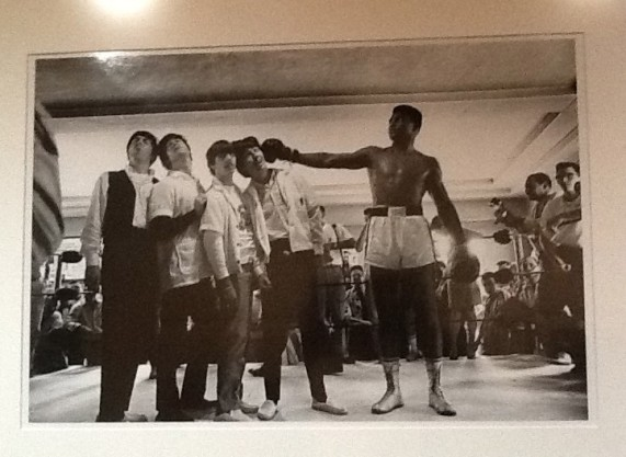 The Beatles with Cassius Clay