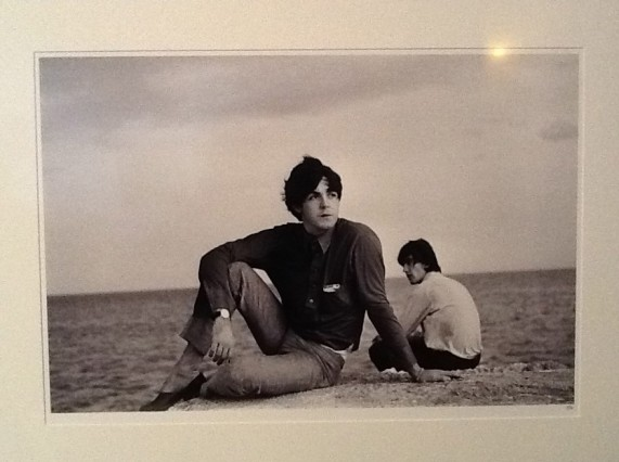 Paul and George on the Beach