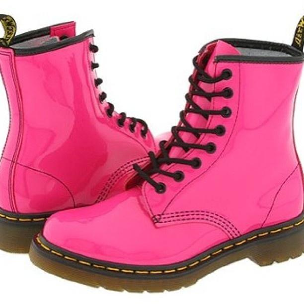 Neon Pink Doc Martens