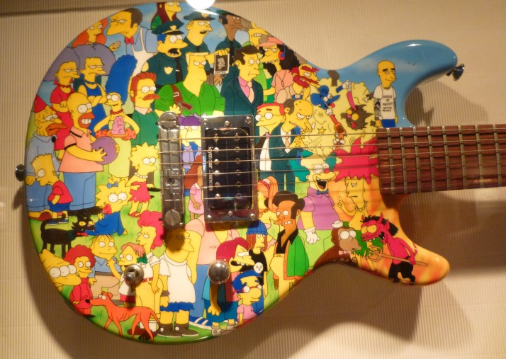 Scott Ian Simpsons Guitar Close Up