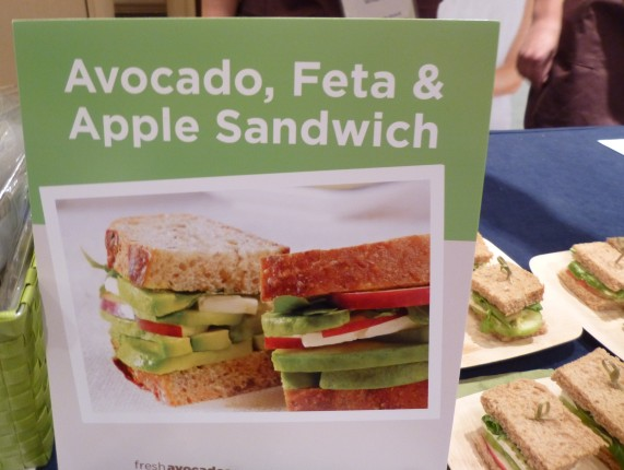 Avocado Apple Feta Sandwiches Sign