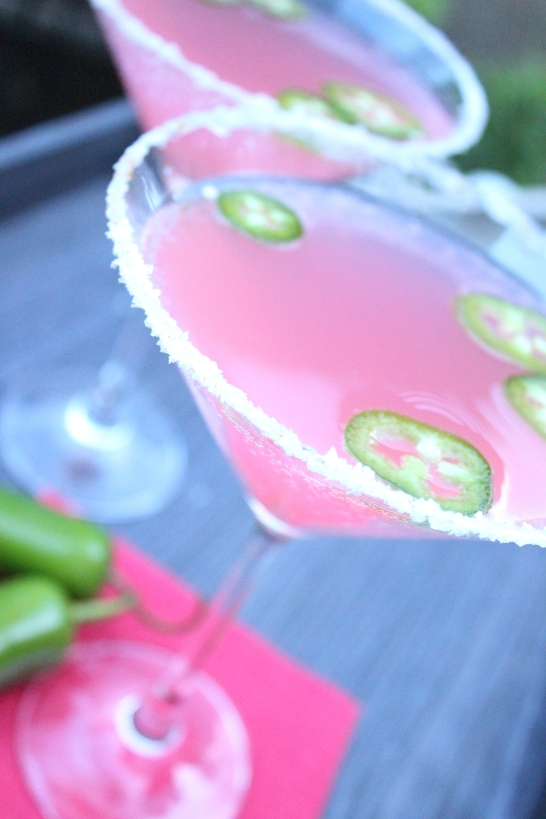 Pink Grapefruit Jalapeno Martini