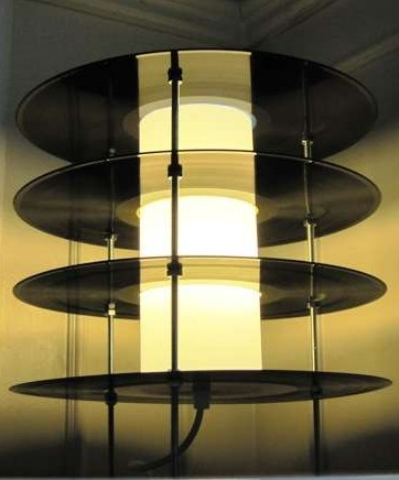 Vinyl Record Table Lamp 2