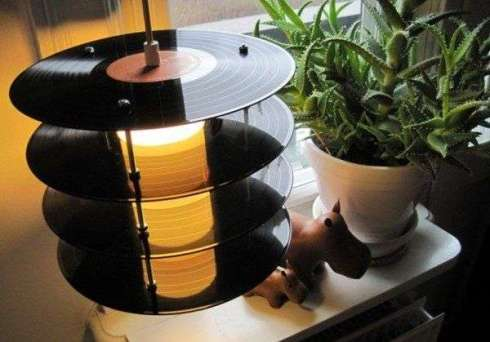 Vinyl Record Table Lamp