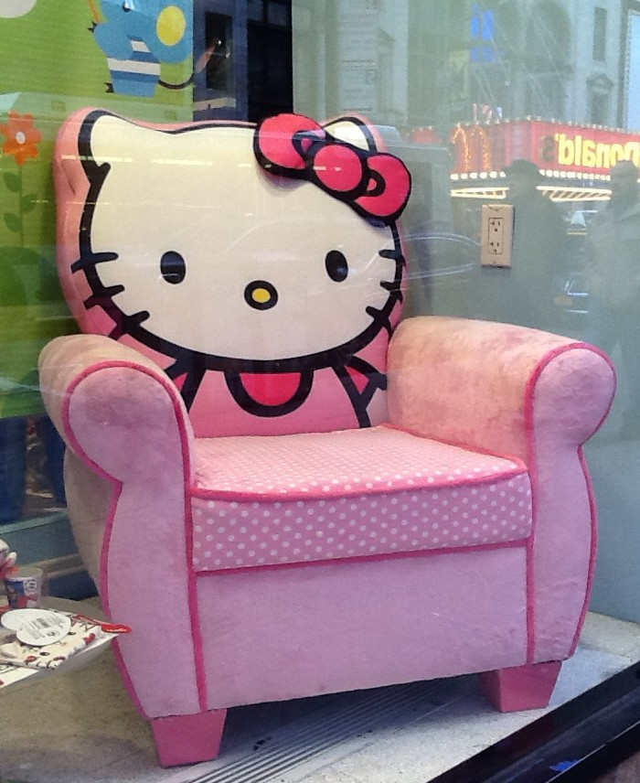 Hello Kitty Upholstered Chair