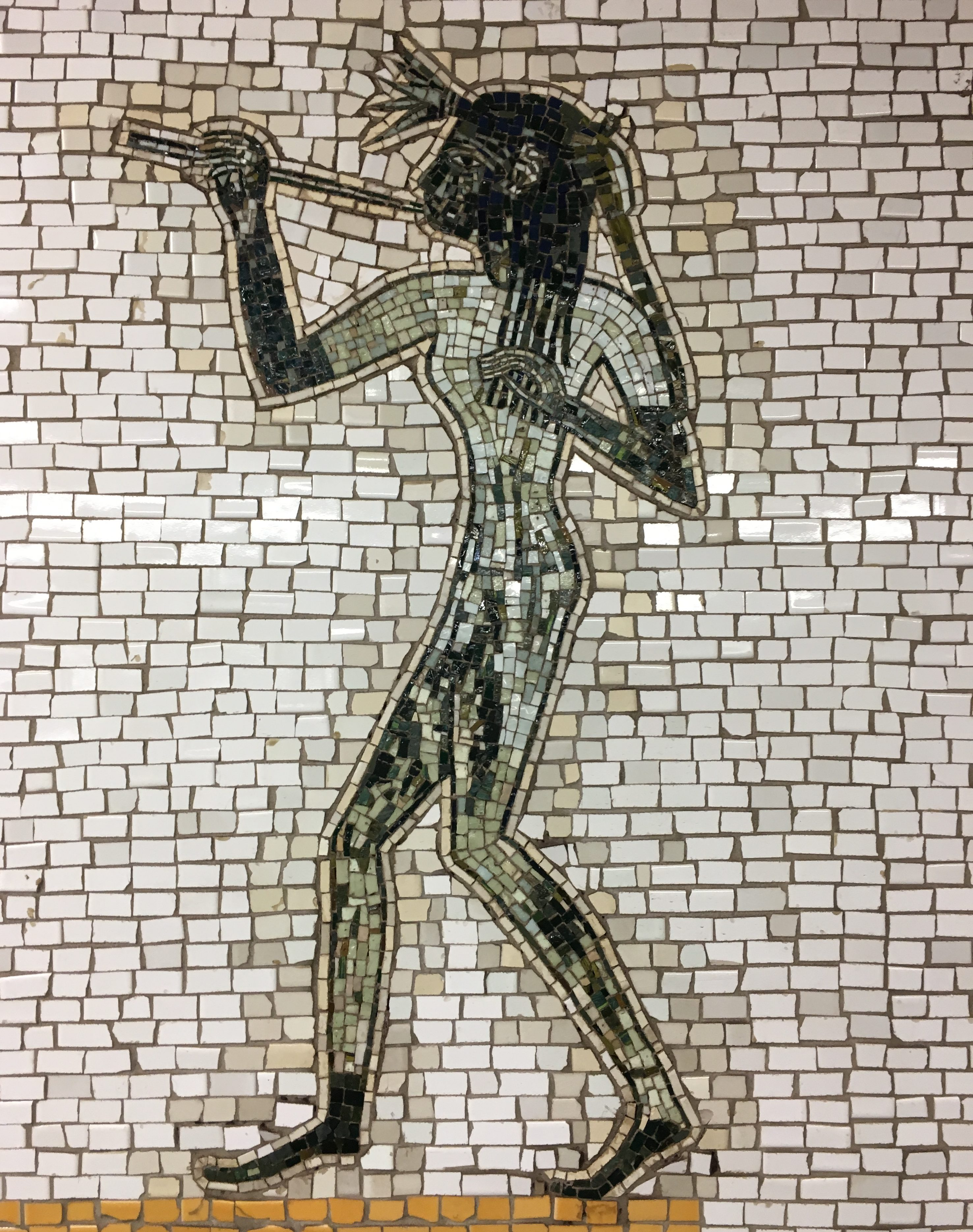 The Diva Tile Mosaic Lincoln Center 66th Street Subway Station