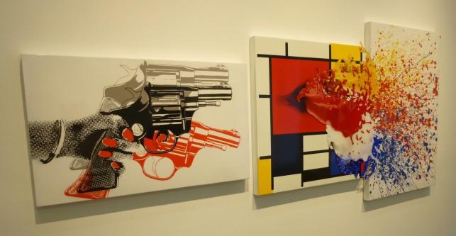 Warhol Mondrian Pollack Homage