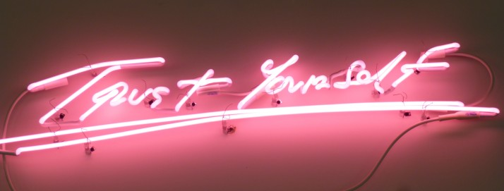 Tracey Emin Trust Yourself Pink Neon