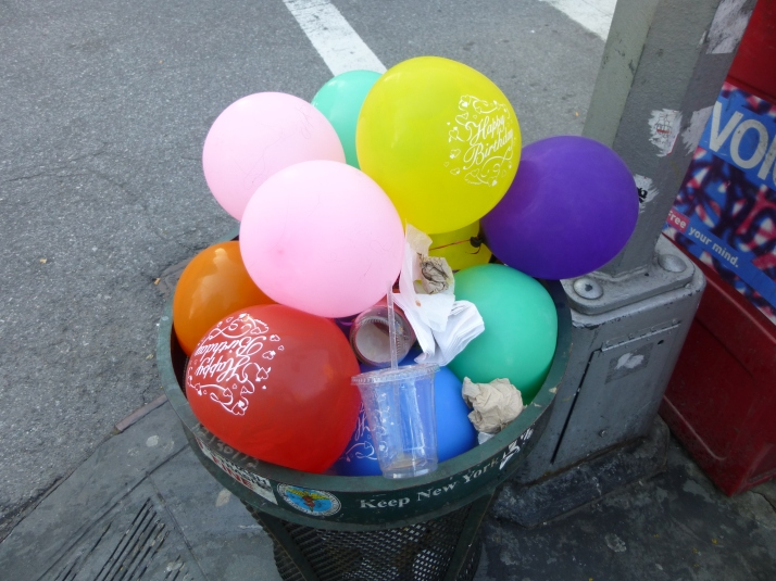 Balloons in the Garbage