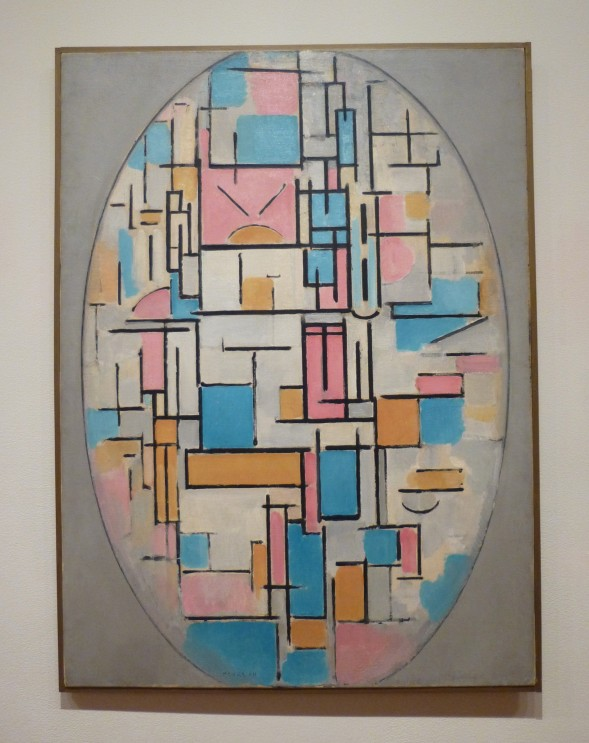 Mondrian Composition in Oval
