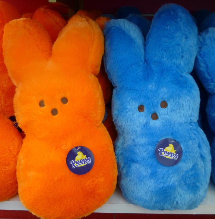 Orange and Blue Plush Bunny Peeps