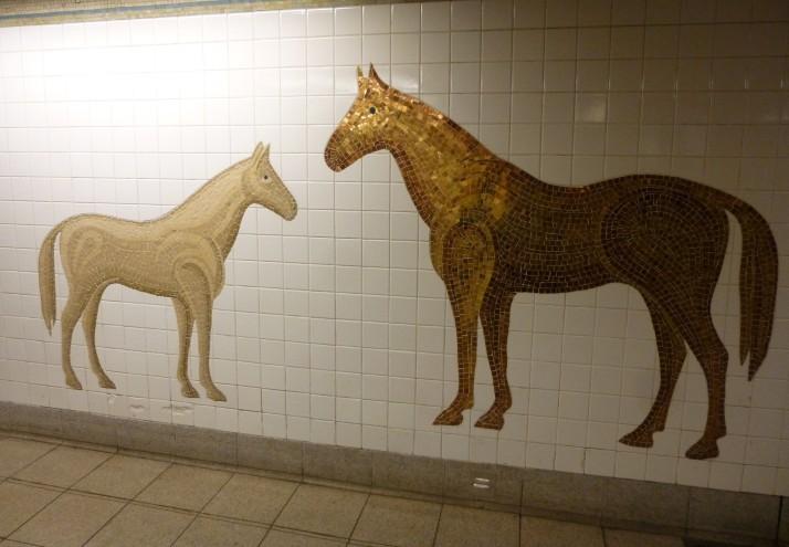 Horses Tile Mosaic