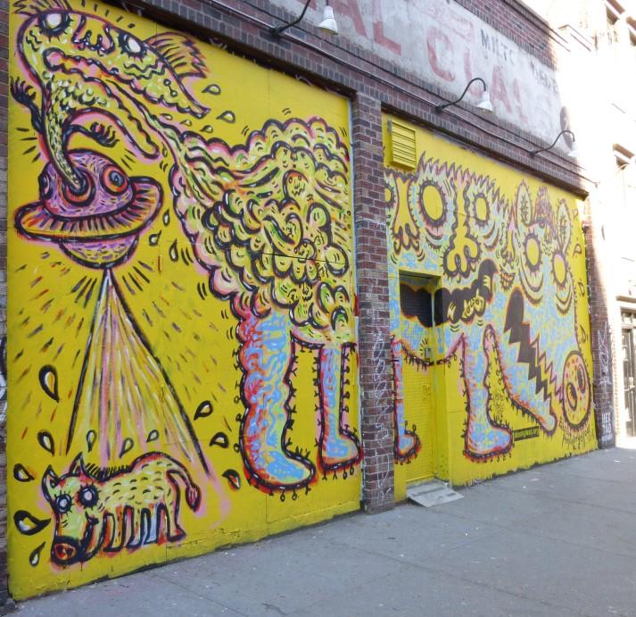 Peelander Yellow Street Mural