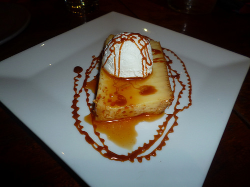 Vanilla Flan with Caramel Sauce