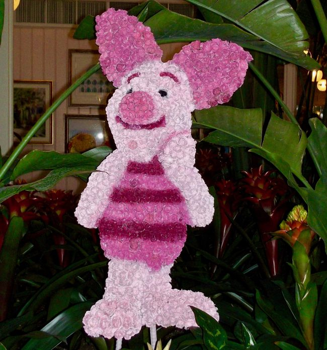 Piglet Made From Flowers