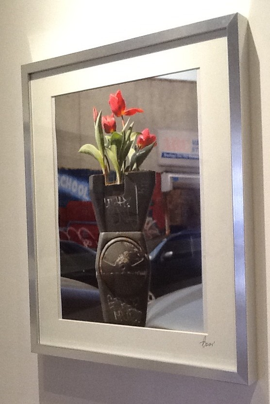 Red Tulips in Parking Meter