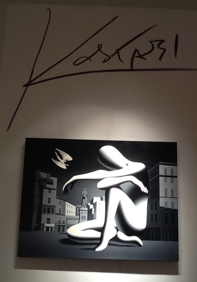 Kostabi Painting with Signature