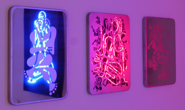 Ryan McGinness Neon and Mirrors