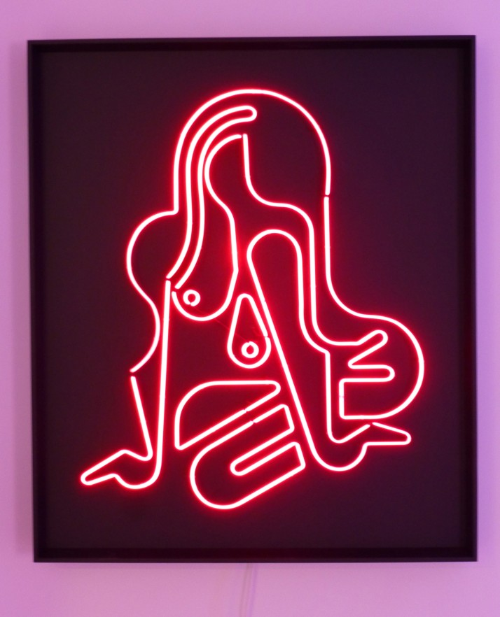 Ryan McGinness Neon Nude Red