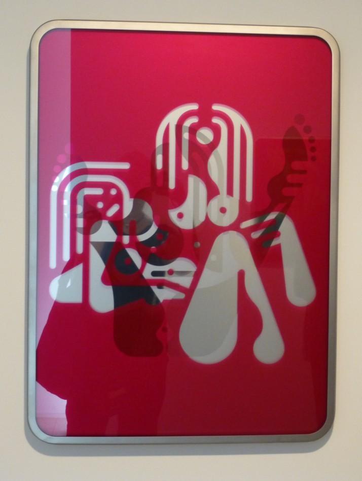 Ryan McGinness Pink Mirror Nude