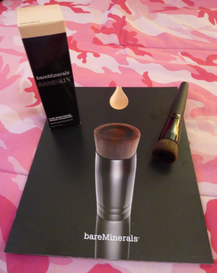 Bare Minerals Foundation and Brush